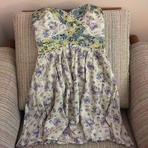 Urban Outfitters Strapless Floral Dress
